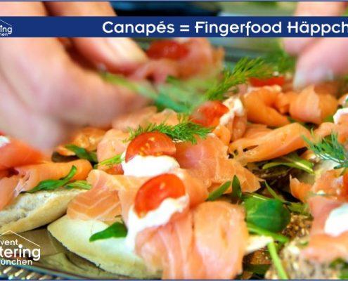 Canapés Fingerfood Häppchen von Catering Landshut