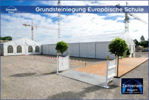 Grundsteinlegung Zeltverleih Landshut