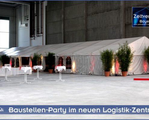 Baustellenparty Zeltverleih Landshut