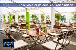 Familienfeier im Zelt von Zeltverleih Landshut