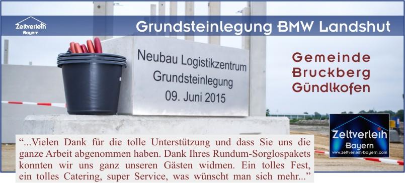 Grundsteinlegung BMW Zeltverleih Landshut