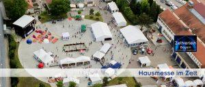 Hausmesse im Zelt Zeltverleih Landshut